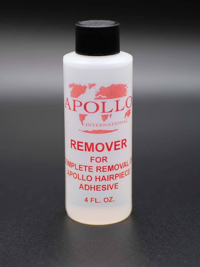 This is an oil-based solvent that is excellent for from excess adhesive residue left behind on the scalp and hairpiece. Comes in 4 Oz. bottles
