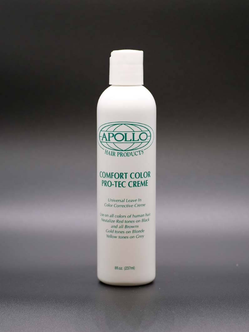 The hair crème helps to stabilize hair color allowing it to last longer without fading. Comes in 8 Oz. bottles.