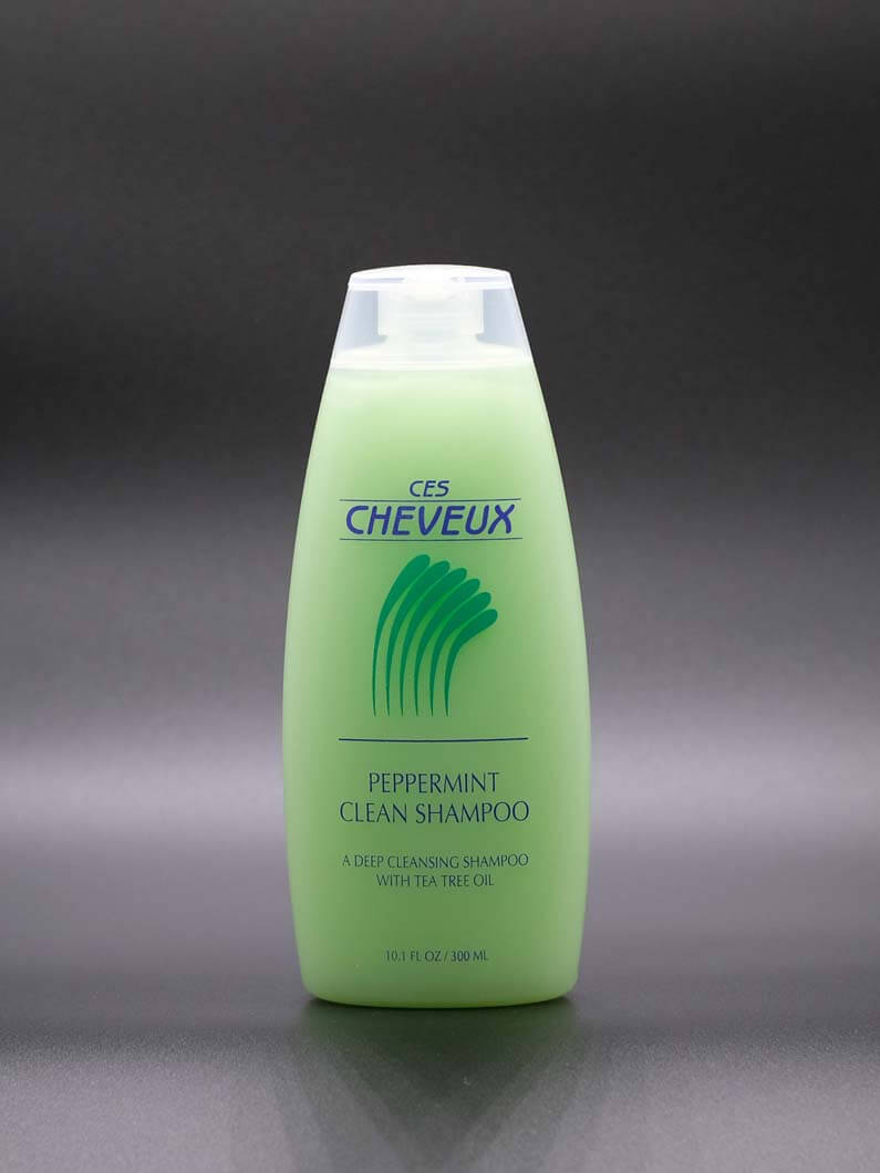 This shampoo is excellent for removing excess oils and built up hair products from hair. The healing properties of tea tree oil combined with peppermint oil leaves your scalp cleansed and refreshed. Comes in 10.1 Oz bottles.