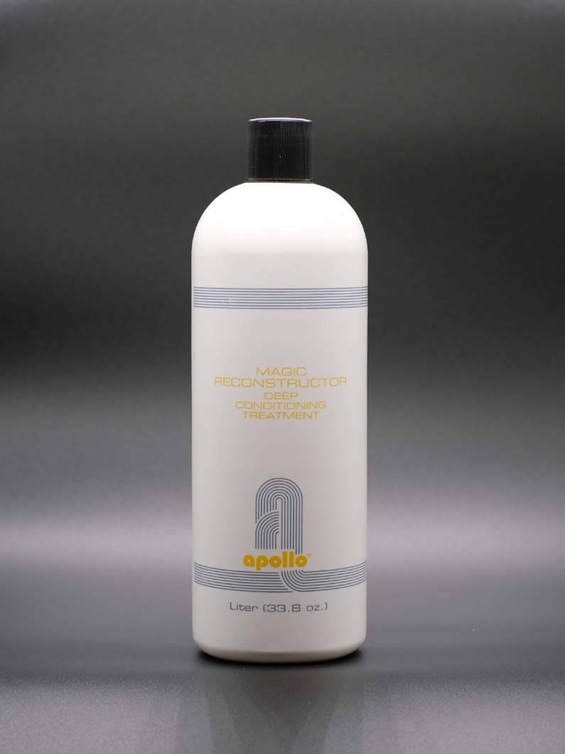 This conditioner is great for over processed and sun exposed hair. It will restore the shine and body that is missing from damaged hair. Comes in 8 Oz, 16 Oz. and Liter bottles.