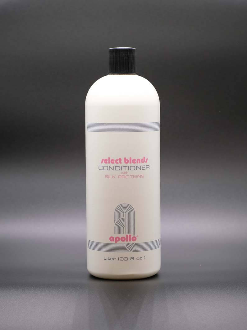 This conditioner is enriched with silk proteins and is formulated for all hair types. With regular use it will renew hairs moisture and body. Comes in 8 Oz, 16 Oz. and Liter bottles.
