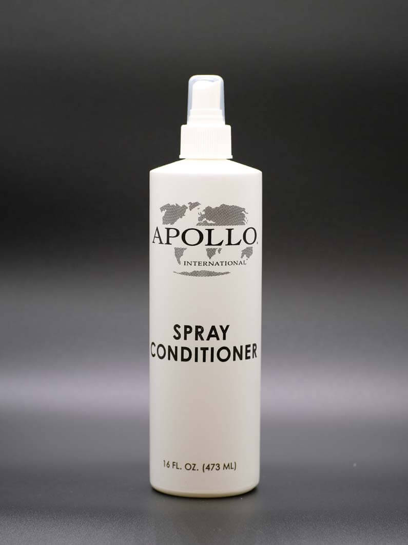Spray conditioner specially formulated for synthetic hair, helps to prevent matting and frizzing. Comes in 8 and 16 Oz. bottles.