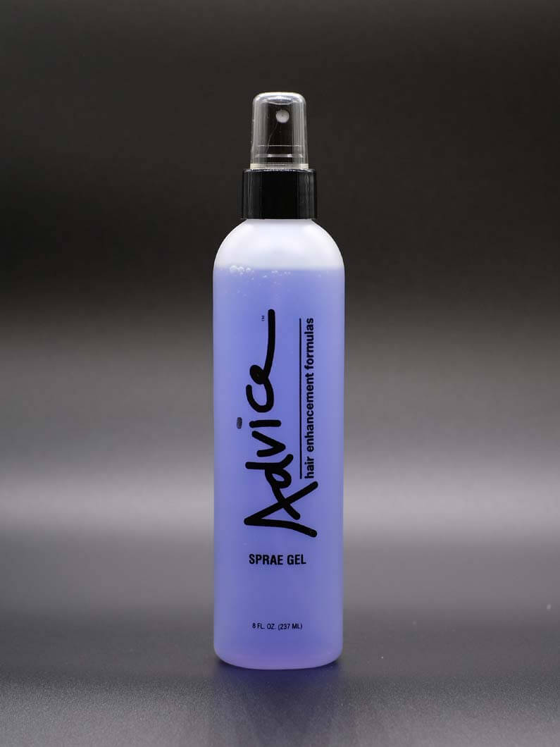 This spray on styling gel is an all natural formula made from herbal extracts. This gel adds body and a look of fullness to hair without flaking or leaving a sticky feeling behind. Comes in 8 Oz. bottles.