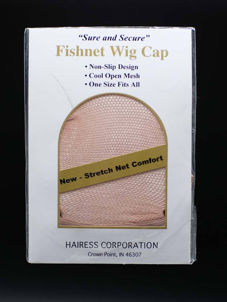 This wig cap is a cool open mesh with a non-slip design to keep wigs secure. One size fits all.